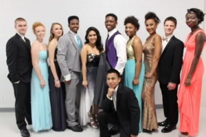 PHS prom fashion show models.